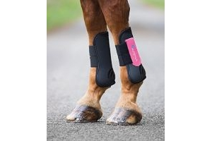 Shires ARMA Tendon Boots - Cob-Black/Pink Cob