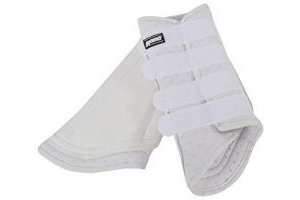 Roma Pro Tec Breathable Brushing Boots (Warmblood) (White)