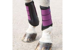 Shires ARMA Air Motion Brushing Boots (Full, Plum)