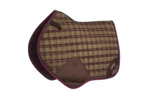 LeMieux Heritage Close Contact Jumping Square Saddle Pad Plum