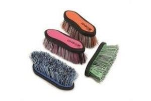 Shires Ezi-Groom Dandy Brush (Large)-Orange One Size