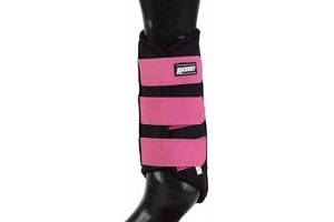 Roma Neoprene Brushing Boots Black/Fuchsia Pony