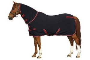 Weatherbeeta Polar Horse Fleece Cooler Combo: Navy, Red & White: 5 ft 9