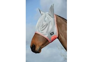 Weatherbeeta Comfitec Airflow Mask - Grey/Orange/Blue - Full