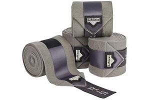LeMieux Unisex's Loire Satin Polo Bandages Grey Set of 4, Full