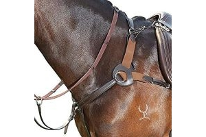 Kincade Leather 5 Point Breastplate Brown Pony