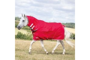 Shires Tempest Original 0g Lightweight Combo Turnout Rug Red/Grey