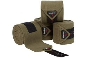 LeMieux Unisex's Fleece Polo Bandages Set of 4, Olive, Full