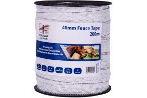 Fenceman Tape White 40mm 200m