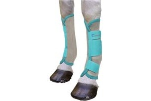 Shires Arma Fly Turnout Socks Teal Full