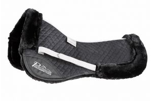 Shires Performance Suede Half Pad: Black: 15-16.5 Inch