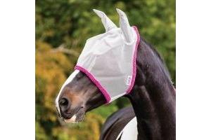 Horseware Amigo Fly Mask - Silver/Purple Small Pony