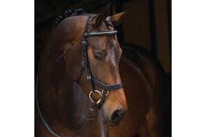 Rambo Micklem Diamante Competition Bridle Black Pony by Horseware