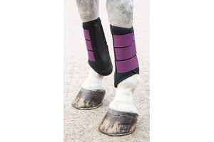 Shires Arma Neoprene Brushing Boots - Plum: Small/Pony