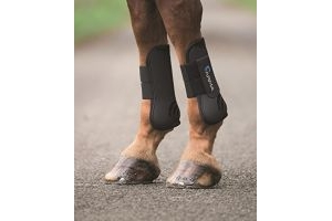 Shires ARMA Tendon Boots - Cob-Black/Black Cob