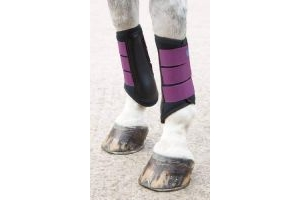 Shires Arma Neoprene Brushing Boots in Plum EXTRA Fulll, Plum