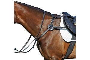 Kincade Leather 5 Point Breastplate Black Pony
