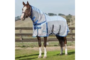 Weatherbeeta Comfitec 600D Mesh Combo Fly Rug: Silver: 5 ft 9