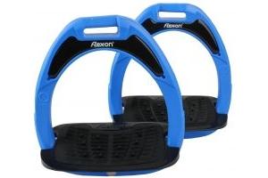 Flex-On Junior Composite Inclined Grip Stirrups Blue/Black