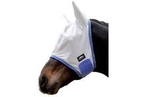 Weatherbeeta Comfitec Airflow Mask - Grey/Blue/Grey - Cob