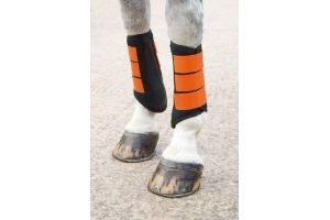 Shires Arma Neoprene Brushing Boots Burnt Orange Pony