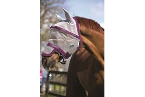 Horseware Rambo Fly Mask Plus Vamoose Pony Silver/Purple