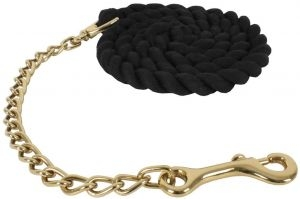 Shires Leadrope with Rein Chain Black