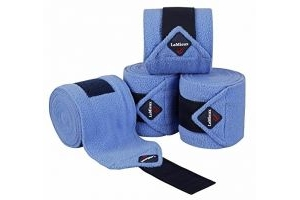 LeMieux Unisex's Fleece Polo Bandages Set of 4, Corn Blue, Full