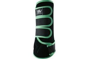 Woof Wear Dressage Wraps Black Mint - Lightweight Breathable