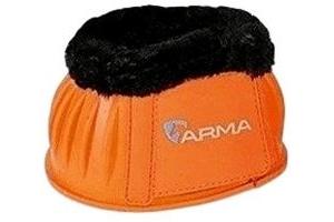 Shires ARMA Fleece Topped Overreach Boots-Orange Cob