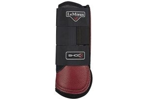 LeMieux ProSport Stealth Air Shoc XC Boot Small Hind Burgundy