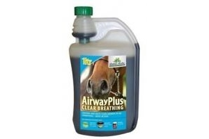 Global Herbs Airway Plus Liquid - 1 litre - For Horses and Ponies - BN