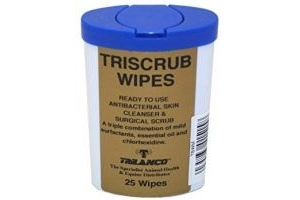 Gold Label Unisex's Triscrub Wipes (Pack of 25), Clear, Regular