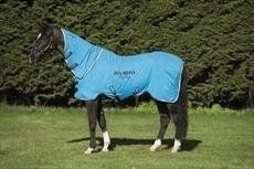 Rambo Horseware Dry Rug Supreme - Polar Fleece-Blue, Black & White S (5â€TM3 â€