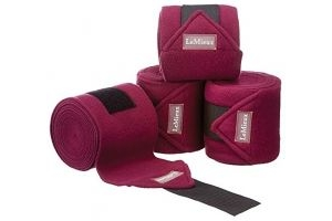 LeMieux Luxury Fleece Bandages - Autumn Plum, 3.8 m