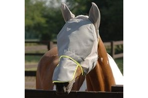 equilibrium - Field Relief Max Horse Fly Mask Small Grey/Yellow