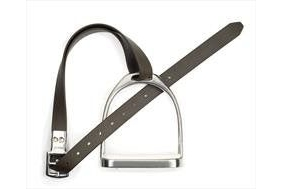 Wintec Slimline Stirrup Leathers-Black 48