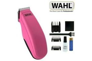 Wahl Pocket Pro Pink Beard Trimmer Kit Battery Operated Stubble & Beard 8066-917