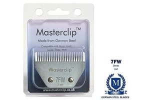 Masterclip 7FW 3mm Medium A5 Royale Clipper Blades also available in medium fine and superfine cut fits Liveryman Harmony Avalon Moser Oster Andis (wide body blade)