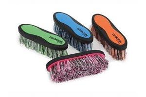 Shires Ezi Groom Shape Up Dandy Brush Small PUR/GRN Single