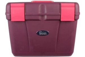 Shires Deluxe Grooming Box in Burgundy/Pink