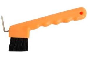 Roma Brights Hoof Pick with Brush Orange