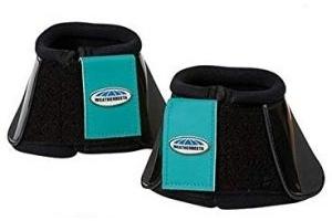 Weatherbeeta Impact Bell Boots (Full) (Black/Turquoise)