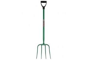 Fynalite Hi-Strength Manure Fork 4 Prong D Grip 32 inch Green 4PD
