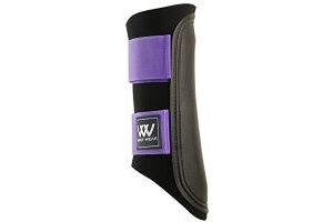 Woof Wear Club Brushing Boot - Black/Purple, Small