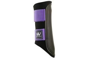 Woof Wear Club Brushing Boot - Black/Purple, Small