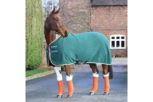 Shires Tempest Original Fleece Rug 5ft3 Green Orange Grey