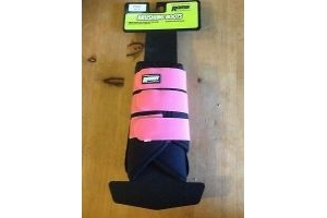 Roma Neoprene Boot Brushing - Black/pink