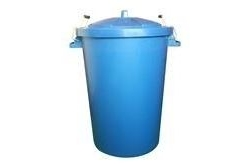 Trilanco Unisex's Prostable Dustbin with Locking Lid 85 Liter, Blue, Regular