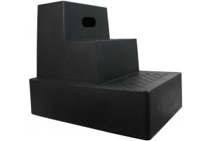 Classic Showjumps Standard 3 Step Mounting Block Black